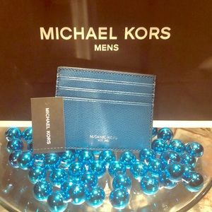 Michael Kors Mens 💙 Tall card case wallet NEW